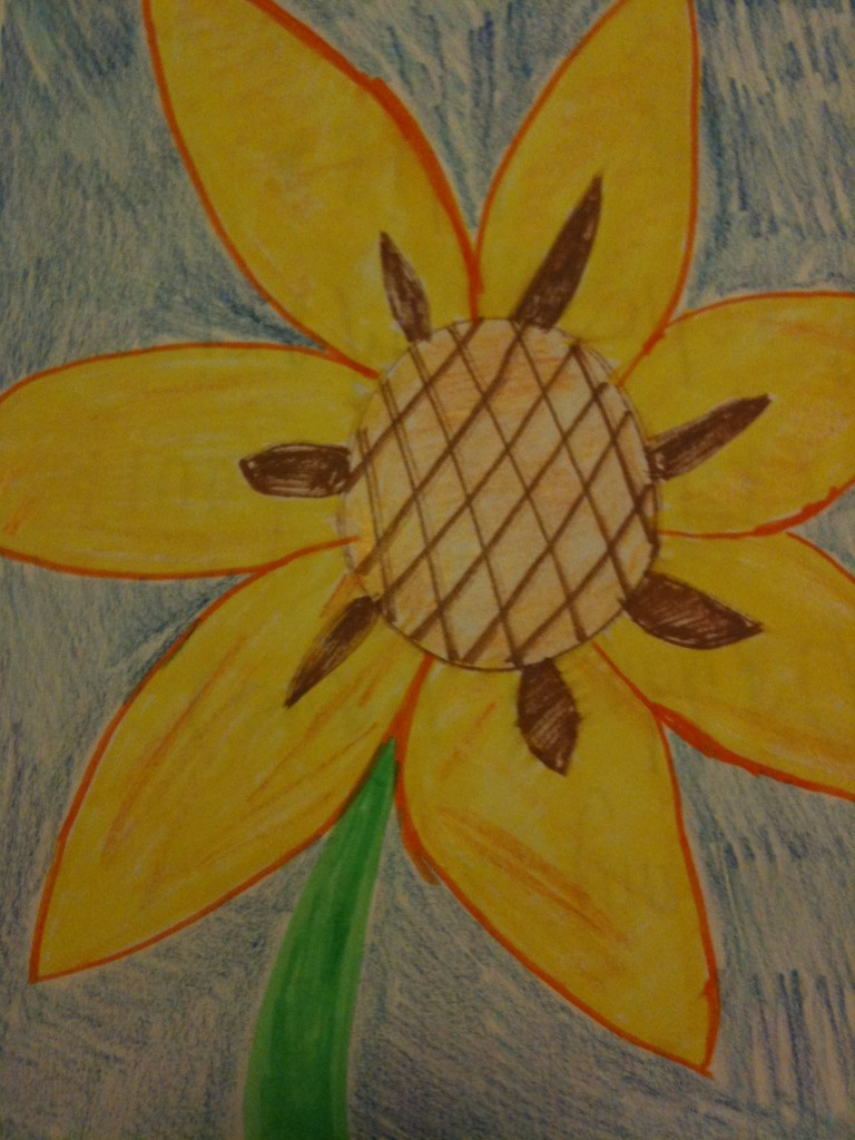 my sunflower 768x1024 Family Draw Time Art Show