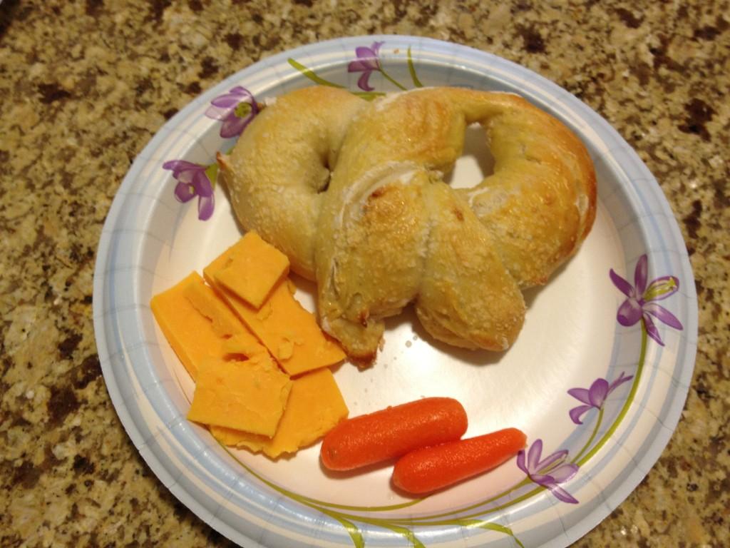homemade Lenten pretzels